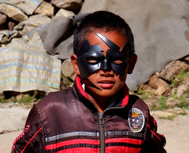 I wish this was a traditional West Bengal mask but really it's just a weird batman