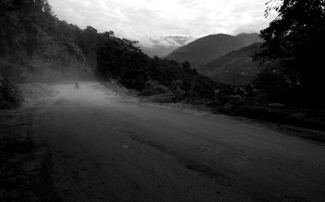 Sometimes the tarmac just disappears, leaving only hunched women tottering through dustclouds.