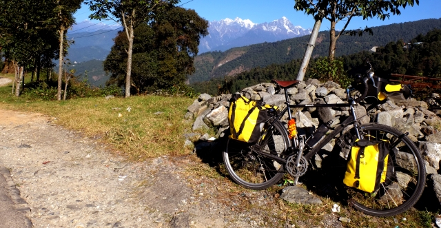 bike with mountain